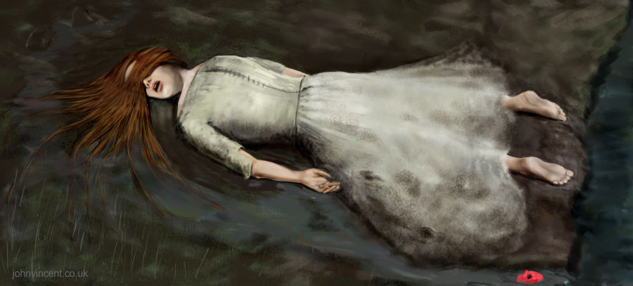 """Ophelia, Pulled From The Water"", Painter, 2015"